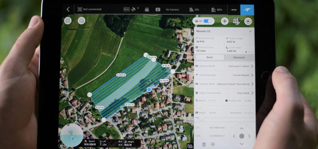 Planungsbüro Grassl Geländeaufmaß durch Drohne