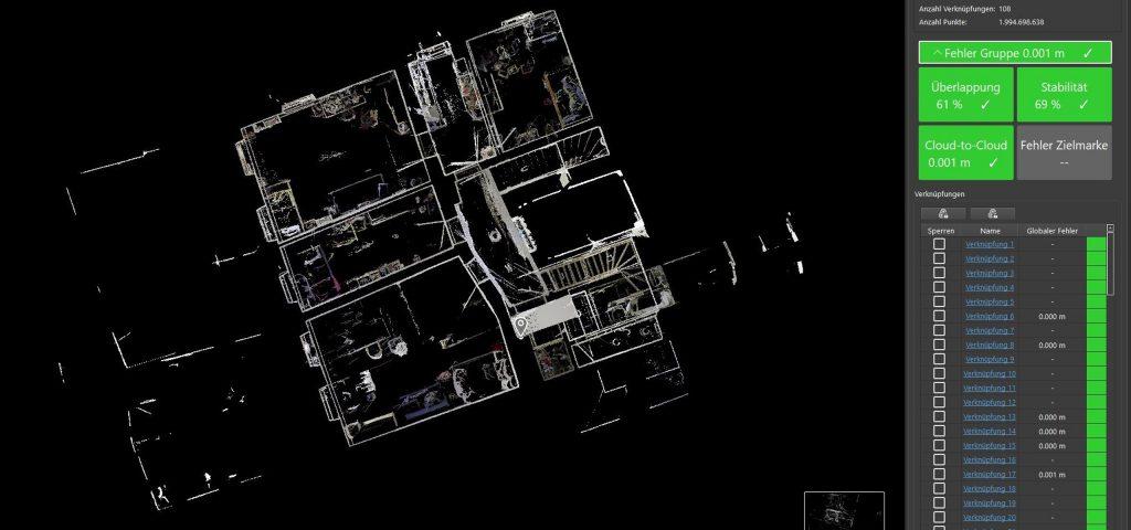 Planungsbüro Grassl 3D-Laserscan-Aufmaß Stadthaus